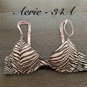 Aerie push-up bra with underwire - fantastic zebra